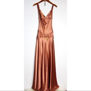 Dina Bar-EL Long Silk Evening Gown